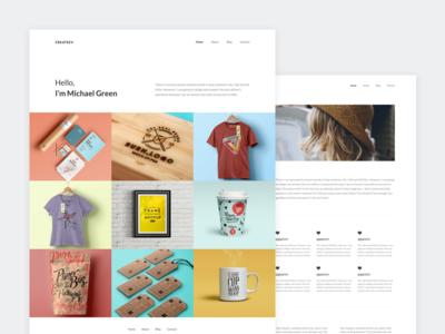 Portfolio Design design minimalist minimal about web layout website portfolio