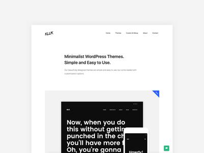 KLLR Website white space white minimalist minimal wordpress portfolio layout website