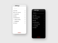 Settings #dailyUi #007 design xd 007 dailyui ui design