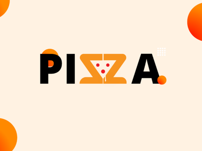 Pizza graphic design design vector illustrator pizza logo logo