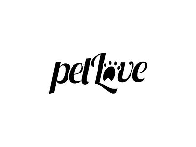 PetLove logo creative logo illustrator branding pet logo pet love simple logo graphic design logo