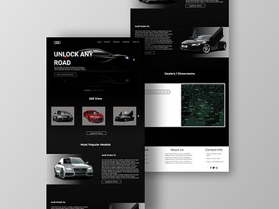 Luxury car web landing page concept website car branding ux xd design ui