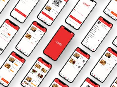 Waah!  a food ordering app red ordering app food order logo ux simple ui design app food