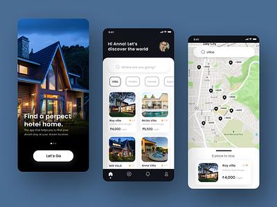 Hotel booking  app UI design inspiration concept tourism travel app design booking figma design hotel graphic design ui