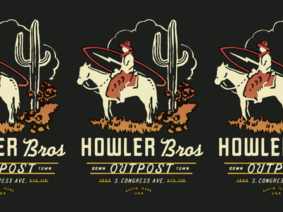 Howler Bros Outpost howler howlerbrothers packaging typography logo illustration graphics storefront patches apparel identity branding