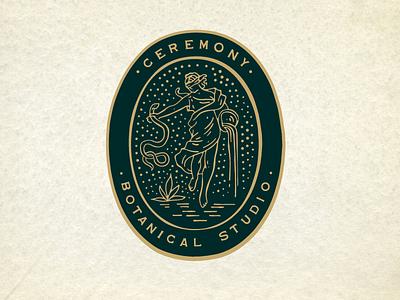 Ceremony Pitcher patches apparel graphics identity typography branding illustration
