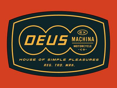 Deus Shield patches apparel graphics identity typography branding illustration