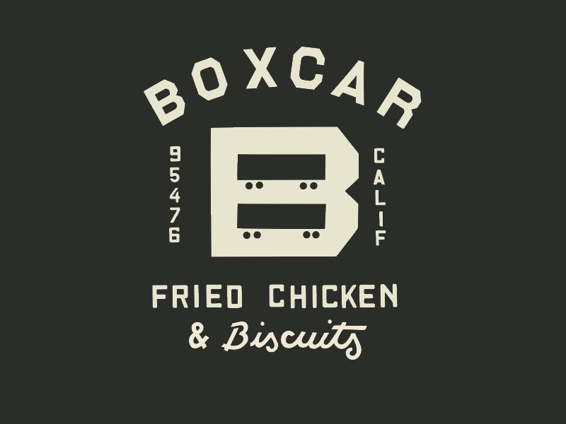 Boxcar Restaurant - Sonoma illustration logo branding identity restaurant