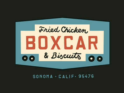 Boxcar Final boxcar icon restaurant graphic design identity patches logo packaging typography apparel branding