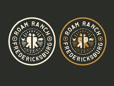Roam Ranch Badge typography illustration icon packaging logo patches apparel identity branding