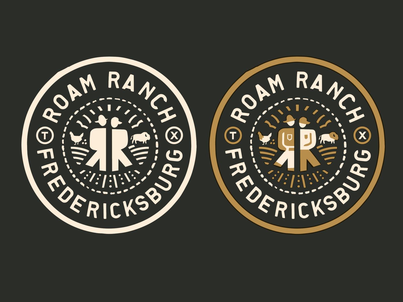 Roam ranch badge 4x