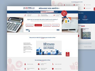 Landing Page landing page design landing page webdesign web design ui business