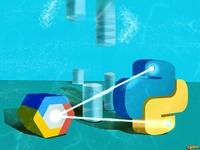 Database and Chrome python logo article illustrator wallpaper design art illustration
