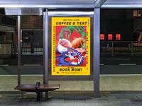 COFFEE & TEA FAIR POSTER ILLUSTRATION poster branding artwork illustrator wallpaper design art illustration