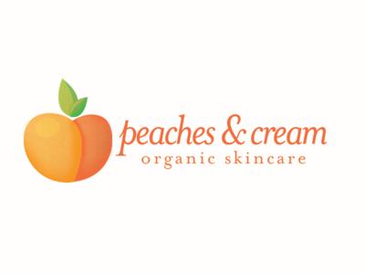 Peaches & Cream logo concept