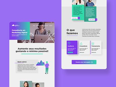 Daily UI 06: Marketing Agency purple agency marketing ux dailyuichallenge uiboost design uiux ui graphic design