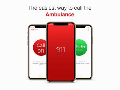 Ambulance app design uiux interface ux ui mobile ios figma design figma ios application ios app responsive mobile application application app ambulance