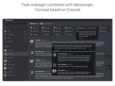 Task manager + Messenger (Discord based concept)