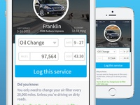 Car Maintenance App (Eddie) - Add service screen