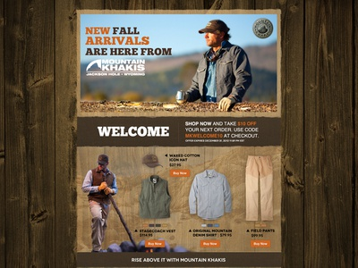 Mountain Khakis Landing Page + PPC Ads
