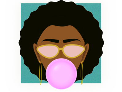 Bubble Gum Girl art graphicdesign vector illustration vector illustrator vectorart graphic design design illustration