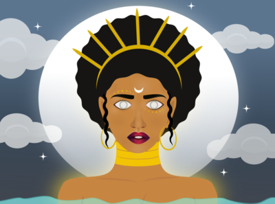 Moon Goddess graphicdesign art vector illustration vector illustrator vectorart graphic design design illustration