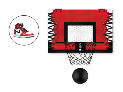 Pro Mini Hoop x Air Jordan I product design illustration