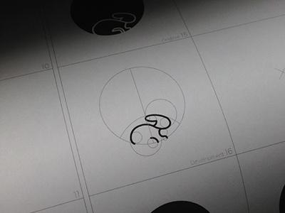 The Golden Rabbit golden ratio colin garven logo logos rabbit animal design circles sip