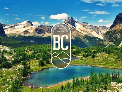 Made In Vancouver, BC logo mountains lake water canada vancouver colin garven mark geometric clean