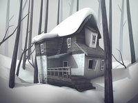Old house Winter. Personal Project.