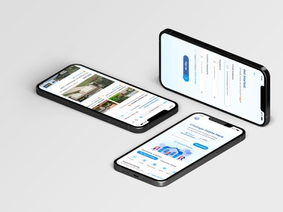 Real Estate Property Buy & Sell ux illustration app design ui graphic design