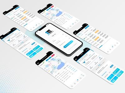 Trash pickup mobile app design ui illustration graphic design design app
