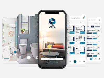 Joto - Home Renovation App Design design ux app graphic design mobile app ui design