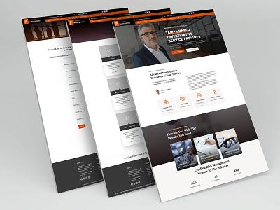 Private Investigator Website Design graphic design landing page design homepage design divi layout private investigator web design ui design website design