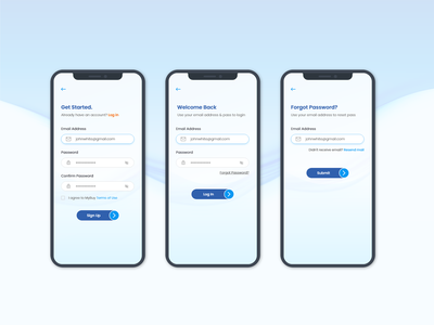 Clean Signup and Login Screen Design app adobe xd user experience user interface clean login screen clean signup screen app login app signup