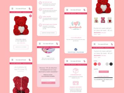 Les Roses De Lucie - Mobile Redesign