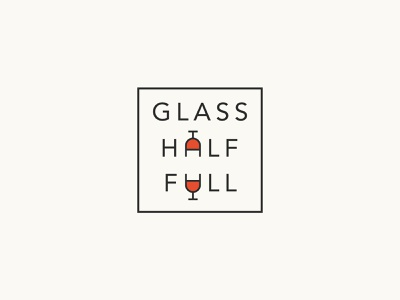 Glass Half Full Logo newsletter wine icon branding vector brand wordmark typography identity logo