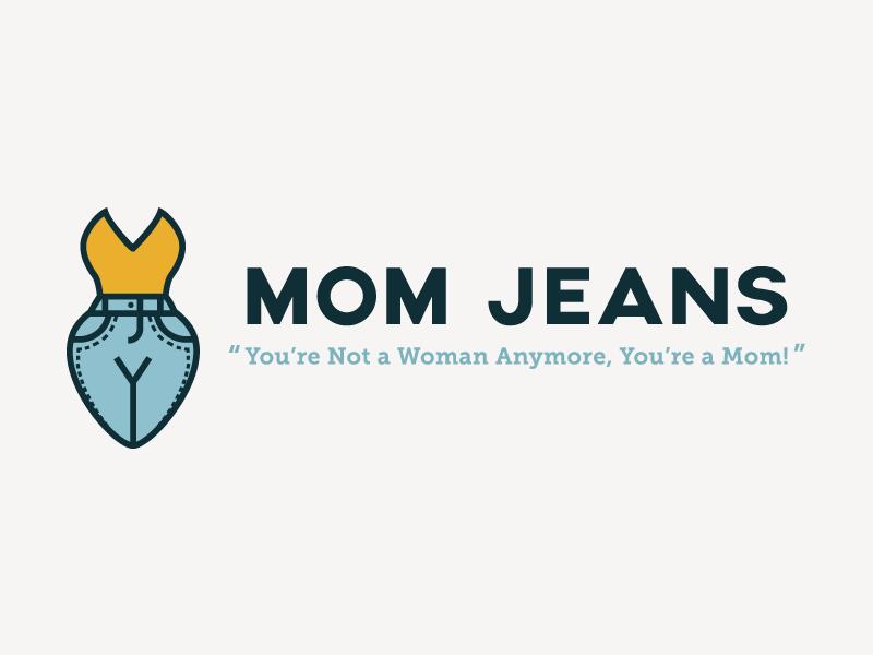 Mom Jeans logo mom mom jeans identity illustration jeans doodle