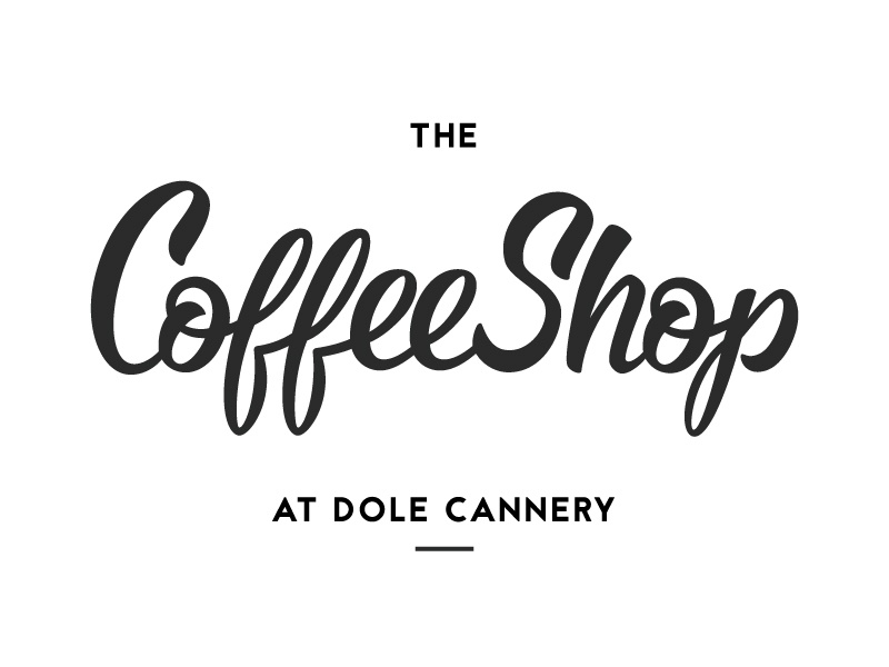 The Coffee Shop typography brush script script lettering hand lettering branding identity logo