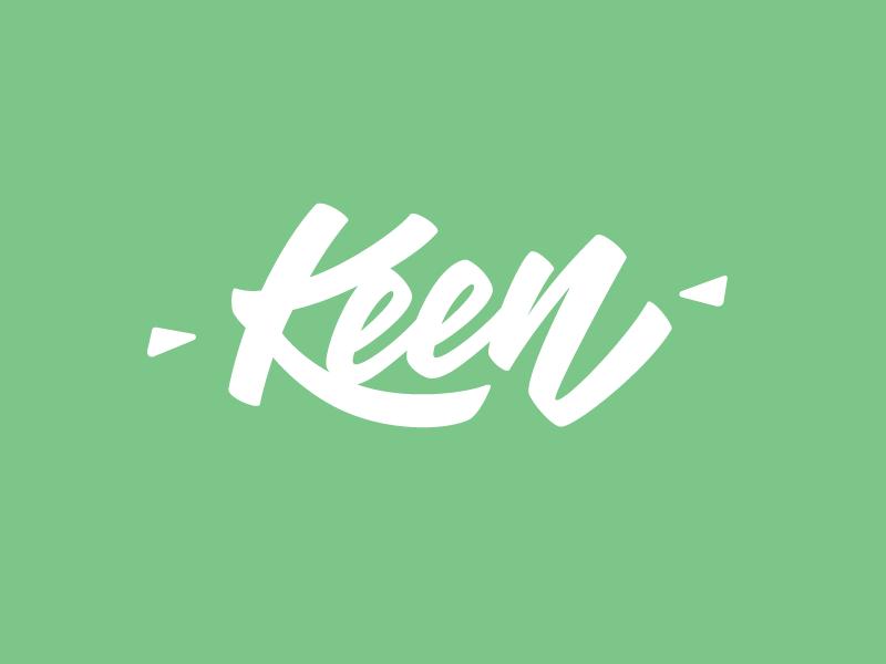 Keen identity calligraphy hand lettering logo wordmark