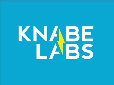 Knabe Labs brand laboratory science lab lightning electricity electric identity logo