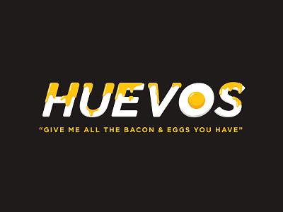 Huevos yolk huevos eggs brand restaurant identity lettering breakfast wordmark logo
