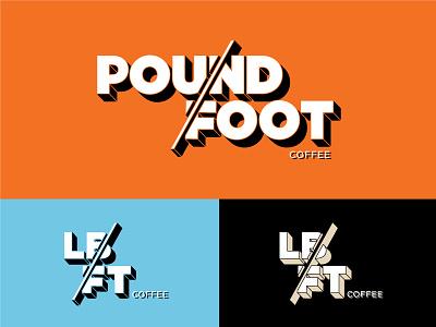Coffee Company Logo pound foot modern retro wordmark brand coffee identity logo