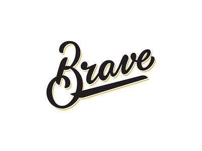 Brave Little Wordmark brave calligraphy hand lettering lettering logo wordmark