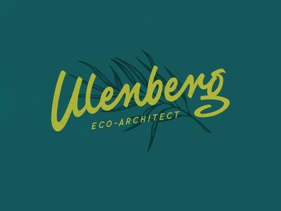 Ulenberg Logo eco architect branding logo wordmark calligraphy typography lettering hand lettering