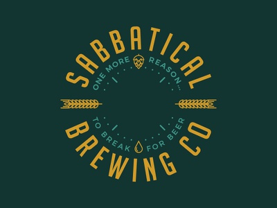 Sabbatical Brewing Co. beer hops brand identity badge logo brewery