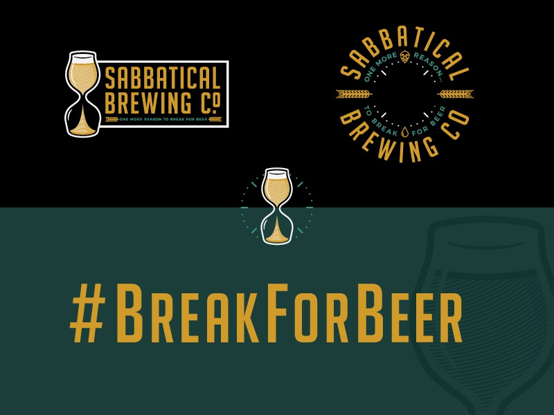 Sabbatical Brewing Co. Branding brand identity badge logo brewery