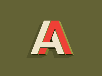 A.A. typography type initials mark identity logo wordmark lettering a