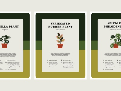 Houseplant Care Prints