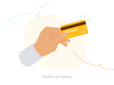 Tapping and Going tap and go contactless pay creditcard payment retail ux ui michael mcmahon 2d illustration 2d